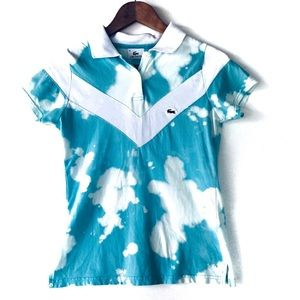 Lacoste Polo Shirt Custom Dyed- Blue Size Small